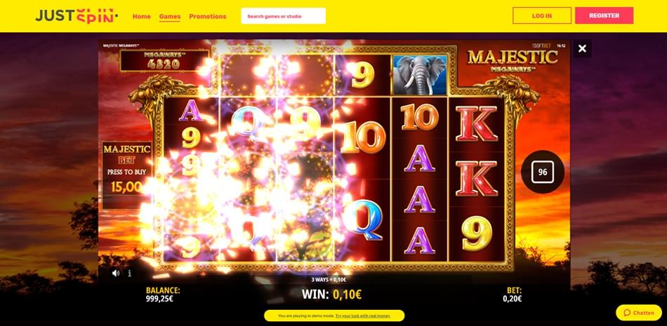 Justspin Casino gratis spelen