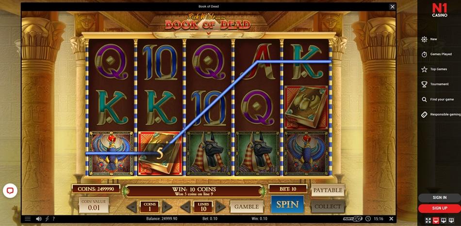 N1 Casino gratis spelen