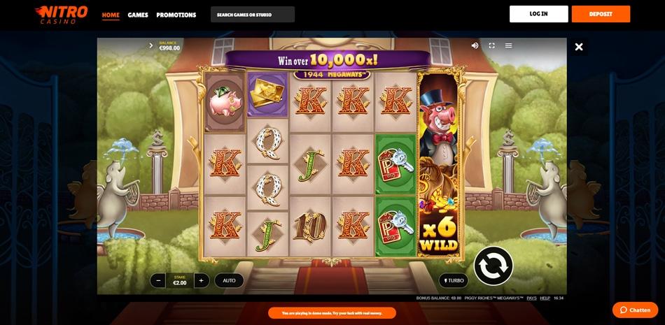 Nitro Casino gratis spelen