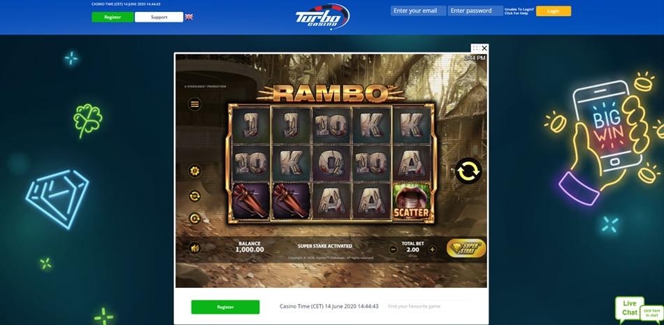 Turbo Casino gratis spelen